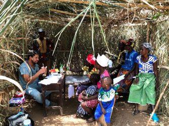 clinic hut in west africa